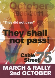 Cable Street poster