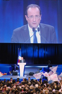 Hollande speaking