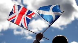 Scottish flag & union jack