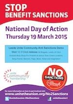 Stop benefit sanctions poster